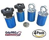 Polaris Lock & Ride Tie Down Anchor Kit - Set of 4 Lock and Ride COMBO Knob/Eye Bolt Anchors for RANGER AND GENERAL UTV's ATV's by GripPRO ATV Anchors