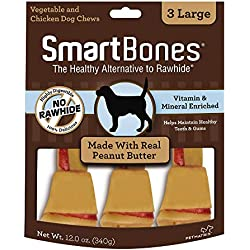 Smartbones Rawhide-Free Dog Chews, Made With Real Peanut Butter, 3 count