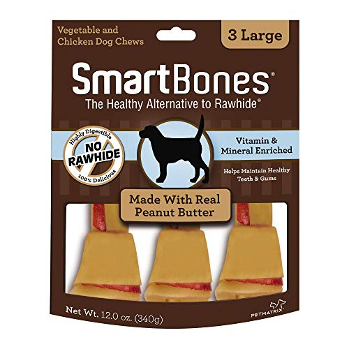 - Smartbones Rawhide-Free Dog Chews, Made With Real Peanut Butter, 3 count