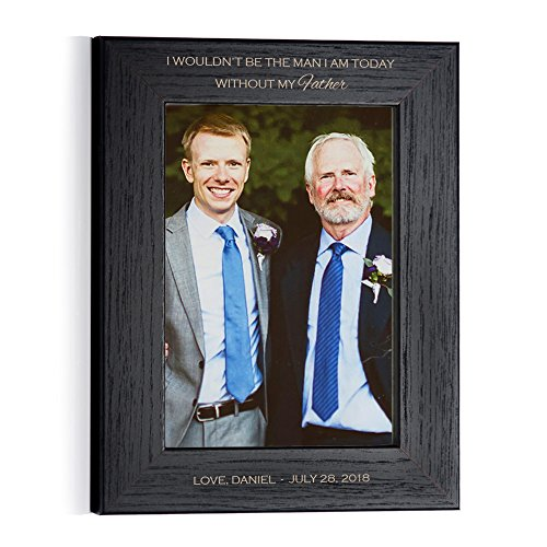 Lifetime Creations Personalized Father of The Groom Picture Frame (Black) (5