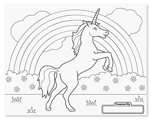 Melissa & Doug Jumbo 50-Page Kids\' Coloring Pad - Horses, Hearts, Flowers,  and More