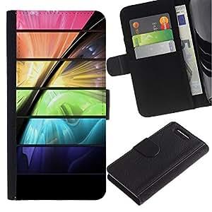 Planetar® Modelo colorido cuero carpeta tirón caso cubierta piel Holster Funda protección Para Sony Xperia Z3 Compact /D5803 / D5833 ( Space Color Vibrant Futuristic )