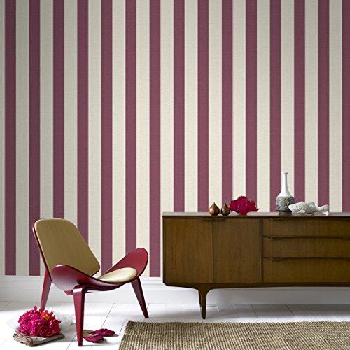 Graham & Brown 20-519 1 Fabric Collection Ticking Stripe Wallpaper, Russett