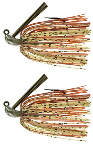 Last Cast Tackle 3/8-1oz Tunsten Bass Flipping Jig - 2 Pack - 4 Colors & 4 Weights to Choose from (Dark Pumpkin, 1/2oz)]()