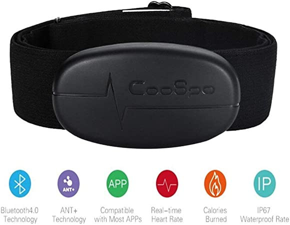 Monitor pulsómetro inalámbrico CooSpo H6 Dua Mode con Bluetooth y Ant+, para monitorizar la frecuencia cardíaca