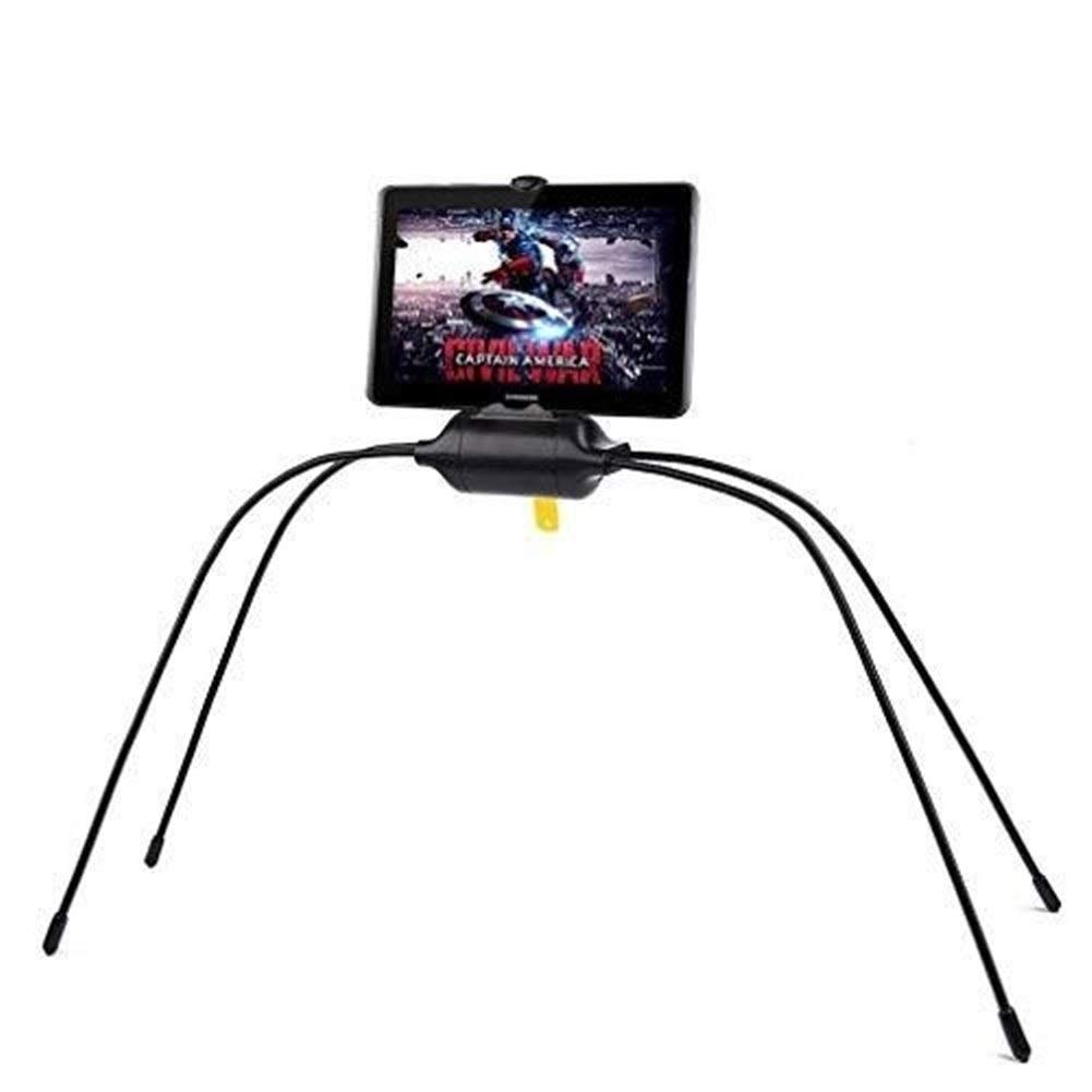 ASJHK Tablet Holder For Bed,Newest Adjustable Stand For Tablet And Cell Phone,Universal Gooseneck Legs Smartphone IPad Holder Stand For Bed,Sofa,Table Or Any Smooth Surface And Uneven Surfaces (Black) by ASJHK