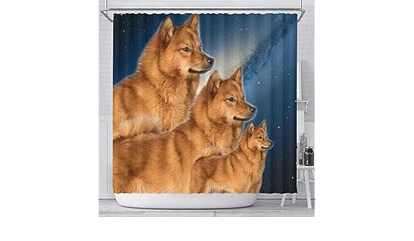 FINNISH SPITZ SINGLE DOG PRINT GREETING CHRISTMAS CARD