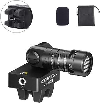 Amazon Com Smartphone Microphone Comica Cvm Vs09tc Cardioid