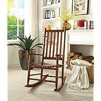 ACME Laik Cherry Oak Rocking Chair