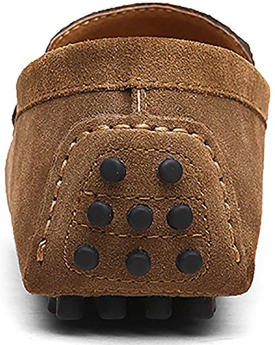 Penny Shoes Go Suede Driving Moccasins Slip Dress Boat Flats On Drivers Men's Loafers Leather Khaki Casual Tour xZxTH
