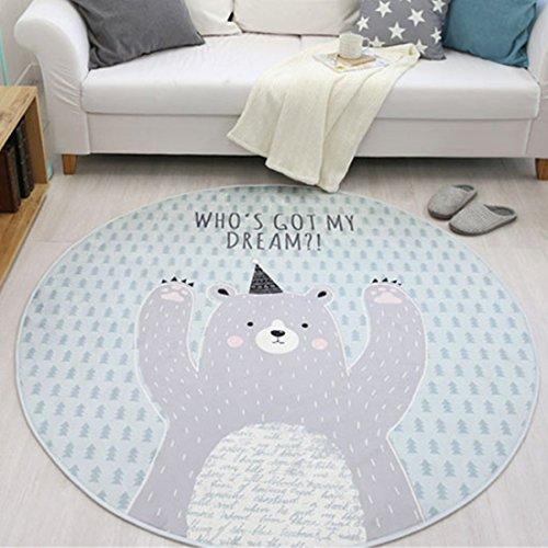 GWELL Sterne Fußmatten Runde Teppich Kinderzimmer Weich Plüsch Anti Rutsch  Kinderteppich Für Schlafzimmer Wohnzimmer (60 X ...