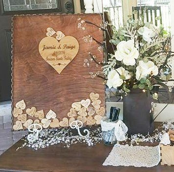 Guest Book Alternative Drop Box With 100 Hearts