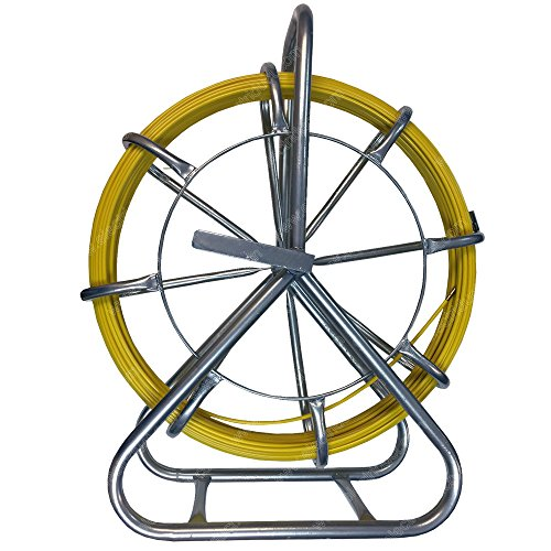 Accessories Cage Fiberglass - 500FT CableDuct Coated Fiberglass Continuous Duct Rodder with Cage and Stand