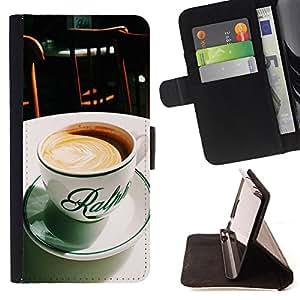 King Case - FOR HTC Desire 820 - Time to relax - Prima caja de la PU billetera de cuero con ranuras para tarjetas, efectivo Compartimiento desmontable y correa para la mu?eca