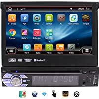 EinCar Car Stereo with Android 6.0 OS 2G RAM Single 1 Din 7 HD Touchscreen Car DVD Player In Dash GPS Navigation Auto Radio Receiver Support Video out/WiFi/Bluetooth/Subwoofer/Mirrorlink/CAM-IN