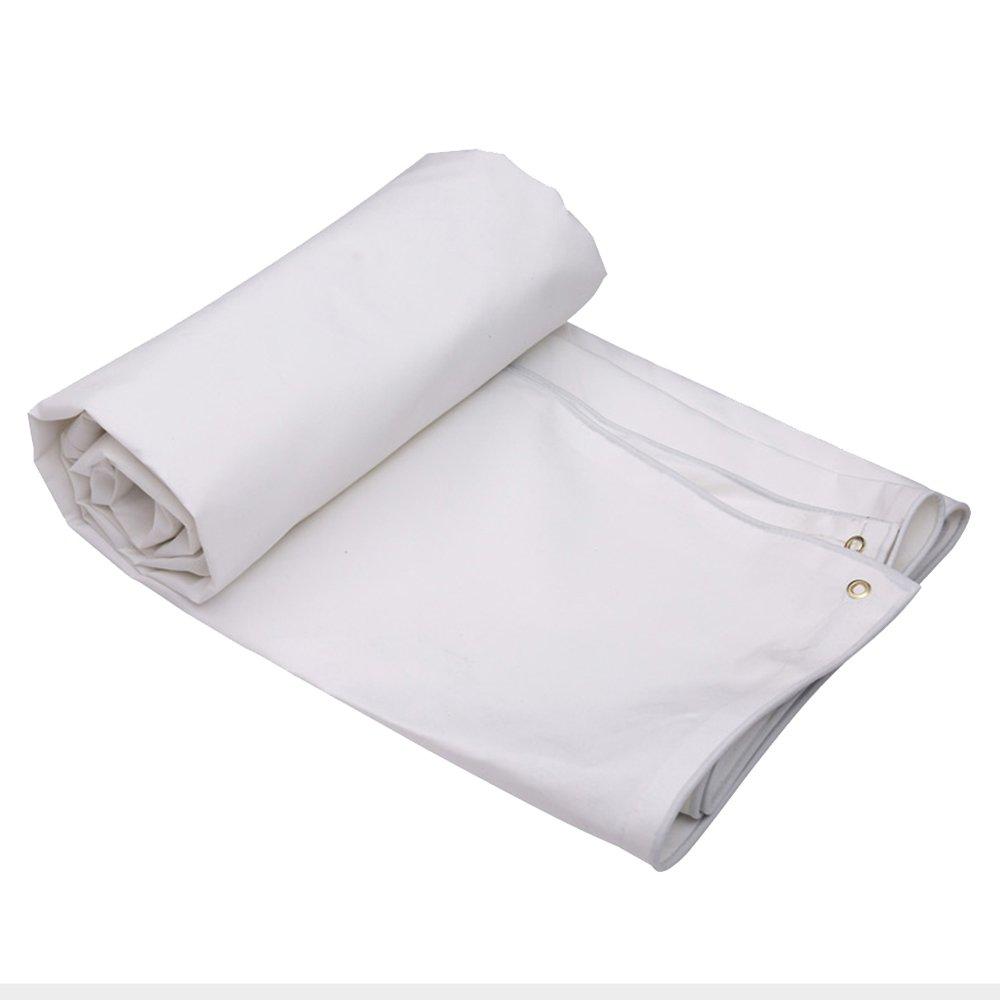 Tarpaulin HUO BÂche Blanche, Couverture Imperméable Anti-UV De Pluie, épaisseur Durable Résistante De Toile De Linoleum 0.5mm- 500g   M2 (Couleur   Blanc, Taille   3  4m) Blanc 34m
