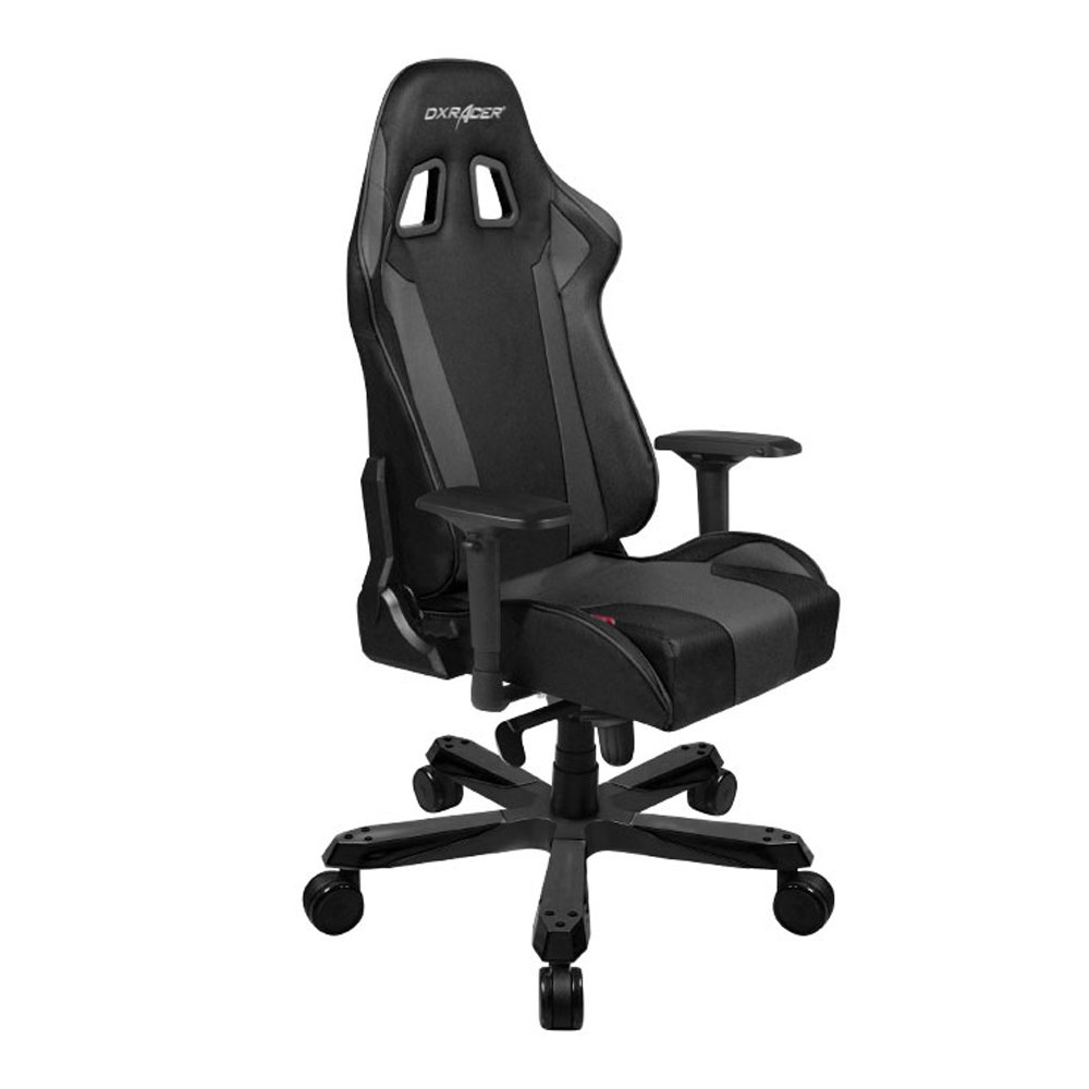 DXRacer King Series DOH/KS06/N Big and Tall Chair Racing Bucket Seat, Office, Gaming, Ergonomic Computer, Esports Desk, Executive Chair, Furniture with Pillows, Black