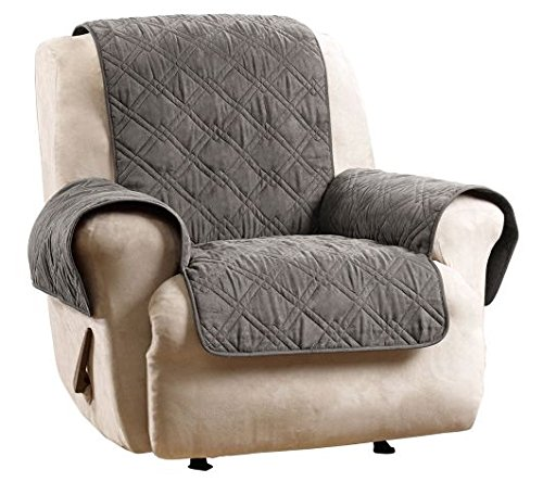 Gray Suede Waterproof Non-skid Furniture Cover Pet Pad Slipcover Recliner sure fit