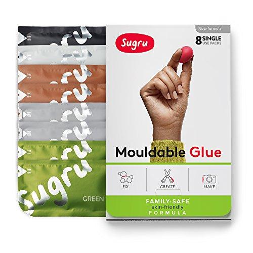 Sugru Moldable Glue - Family-safe | Skin-friendly Formula - Natural Colors 8-Pack - - Formula Pest