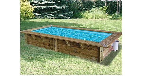 Ubbink Piscina madera Azura 3,50 x 2,00 x 0,71 m – Liner Azul ...