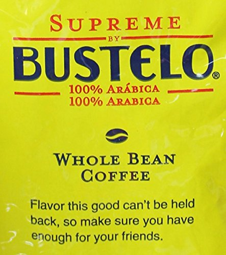 Bustelo Supreme Whole Bean. 16 oz, pack of 2