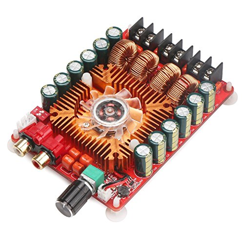 WINGONEER TDA7498E 2x160W Dual Channel Audio Amplifier Board, Support BTL Mode 1X220W Single Channel, DC 24V Digital Stereo Power Amp Module for Car Vehicle Computer Speaker DIY (Amp Board)