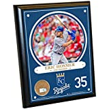 "MLB Kansas City Royals Eric Hosmer Plaque with Game Used Dirt from Kauffman Stadium, 8"" x 10"", Navy"