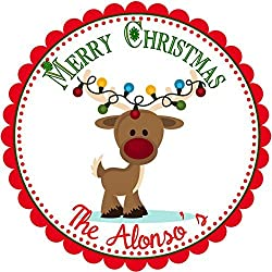 40 Personalized Christmas LABELS Party Favors Holiday STICKERS Angel Girl Christmas Return Address Labels SIZE OF CHOICE