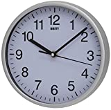 Unity Radcliffe Silent Sweep Wall Clock, Silver, l x 20 cm w