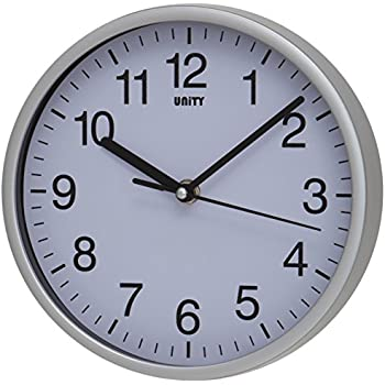 Unity UNSW196 Radcliffe Sweeping Seconds Hand Quiet Wall Clock, Silver