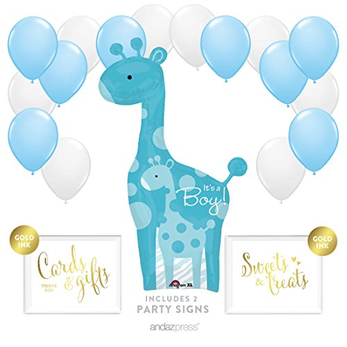 Andaz Press Balloon Party Kit with Signs, Boy Baby Shower...