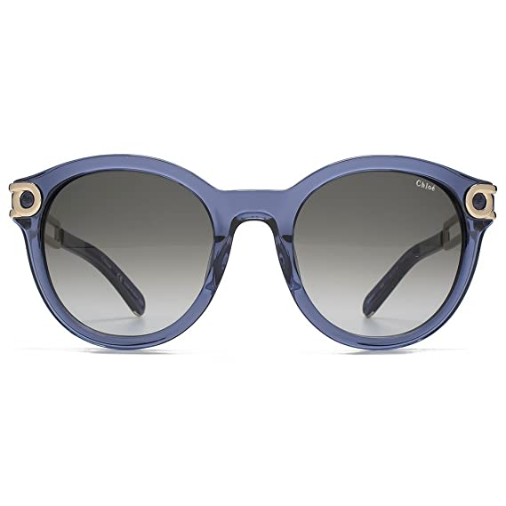 13ce3e717d Chloe Metal Temple Round Sunglasses in Denim CE693 S 405 52 52 Gradient  Grey  Amazon.co.uk  Clothing