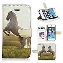iPhone 5 Case, Flip Wallet Pouch Case For Apple iPhone 5s PU Leather Horse Phone Protective Shell (N130)