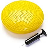 Black Mountain Products Exercise Balance Stability Disc with Hand Pump, Yellow