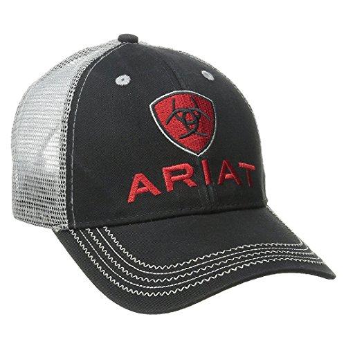 Ariat Men's Gray Mesh Hat, Black, One Size