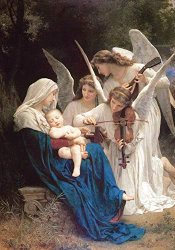 Oil Painting Reproductions on Canvas Prints,High definition print-Song of the Angels by William-Adolphe Bouguereau