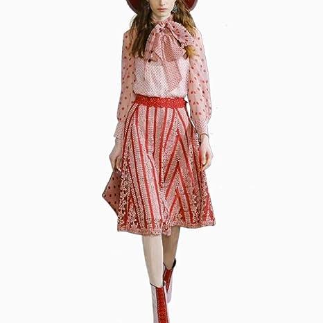 MTBDLYQ Vestido De Las Señoras,Conjunto De Dos Piezas De Moda ...