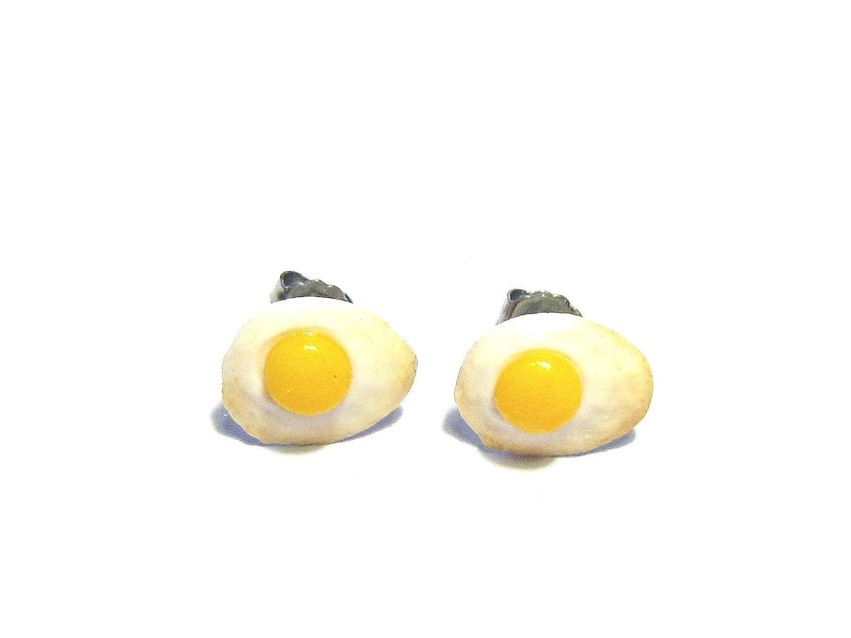 3D Fried egg earrings
