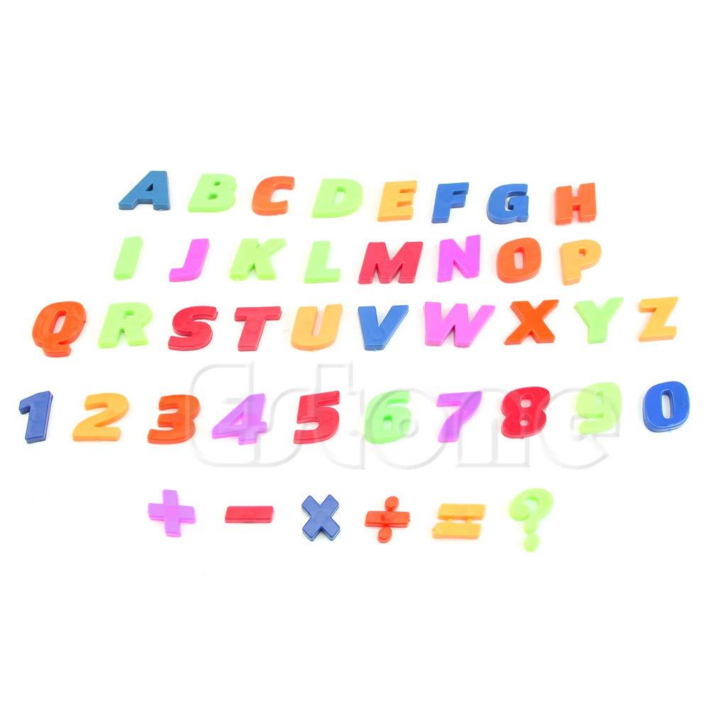 ECMQS Nevera imanes enseñanza Conjunto de Alfabeto magnético de 42 ...