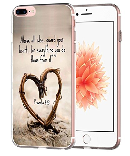 Case for iPhone 7 Plus Bible Protective - Case for iPhone 8 Plus - Topgraph [Exact Slim Fit Clear with Design Full Coverage] Replacement Bumper Compatible for iPhone 8/7 Plus [Christian Songs]