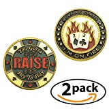 Poker Card Guard Protector 2 Pack - I'm on Fire – Pay to Play