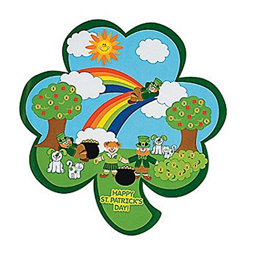 SALE - 12 Shamrock St. Patricks Day Kids Sticker Scenes | Childrens Craft Stickers