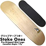 Stoke! Ones スケートボードデッキ 8.0 【 テープ貼り付け済なのですぐ使える! プライムでスピード配送 】