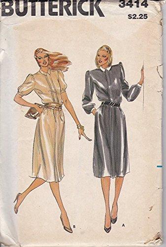 (Vintage Uncut Butterick sz 6 3414 Dress pattern)