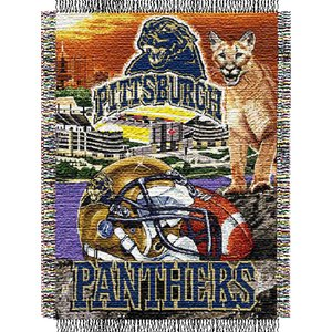 """The Northwest Company Officially Licensed NCAA Pittsburgh Panthers Home Field Advantage Woven Tapestry Throw Blanket, 48"""" x 60"""""""