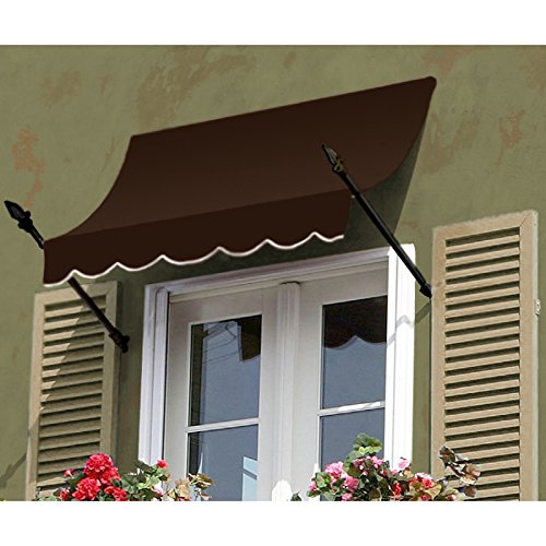 Awntech 4-Feet New Orleans Awning, 31-Inch Height by 16-Inch Diameter, Black