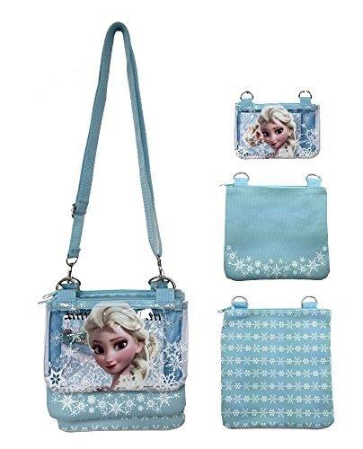 Disney Frozen Elsa Blue Adjustable Strap Messenger Shoulder Cross Purse Bag -