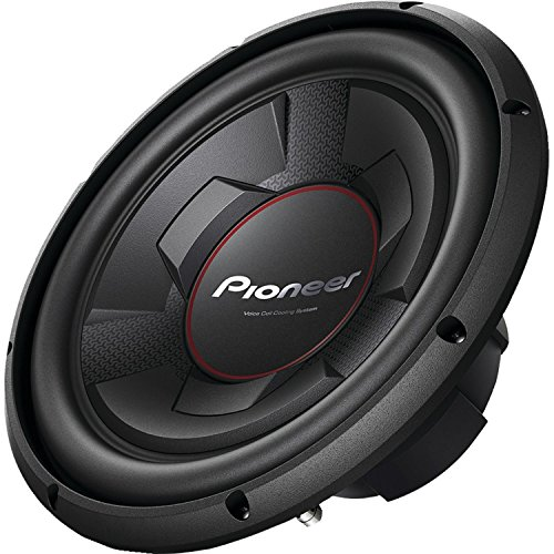 "Pioneer 12"" 1300W Peak Single 4-Ohm Champion Series Component Car Audio Subwoofer"