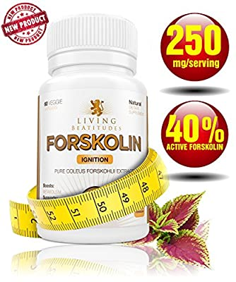 Forskolin 250mg w/ 40% Standardized Means 100mg Forskolin Per Capsule *60 DAYS Supply *Pure Coleus Forskohlii Root Extract *All Natural Appetite Suppressant *Carb Blocker and Weight Loss Supplement *Increase Metabolism and Burn Your Fat TODAY!