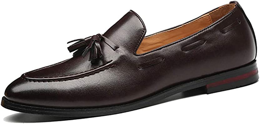 Zapatos de Cuero para Hombres Zapatos Antideslizantes con borlas ...